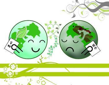 地球受伤的卡通图案-感恩地球